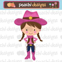 Cowgirl clipart little cowgirl Items Art Printable Clipart to