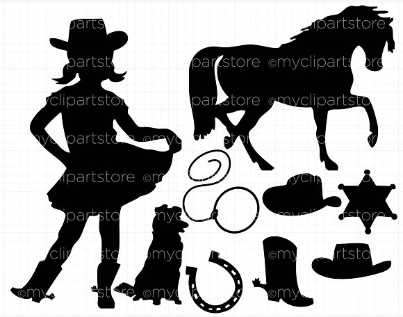 Cowgirl clipart little cowgirl On Clipart Creative  ~