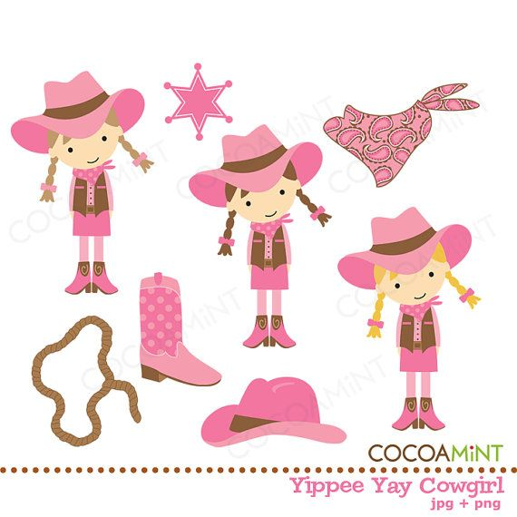 Cowgirl clipart little cowgirl Cowgirl  Art Clip ideas