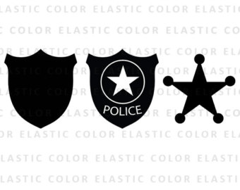 Cowgirl clipart police star Vector badge police badge files