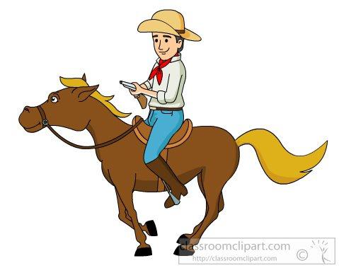 Cowgirl clipart riding horse Clip horse Art Cowboys clipart
