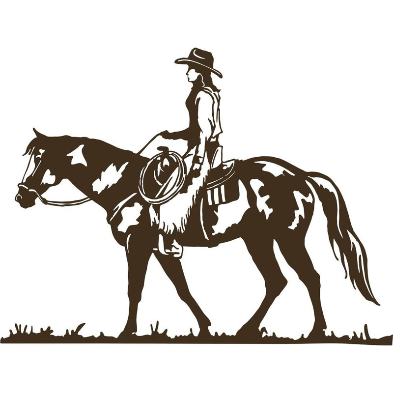 Cowgirl clipart riding horse Rider Cowgirl Kids Riding Cowboy