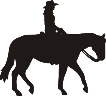 Cowgirl clipart riding horse Rider ideas female Horse for