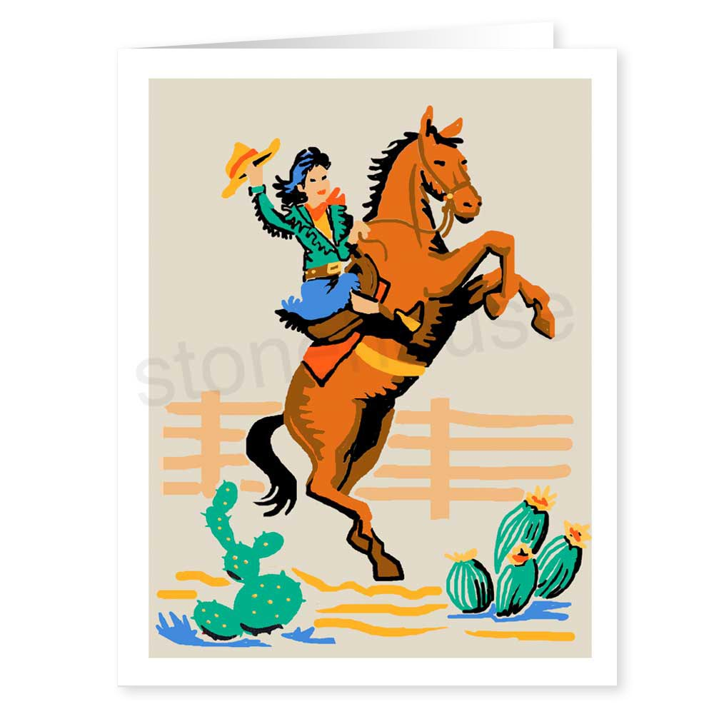 Cowgirl clipart riding horse Stonehouse Collection: Cowgirl Cowgirl Rides