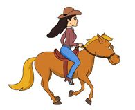 Cowgirl clipart riding horse Clipart a Clip Free Illustrations