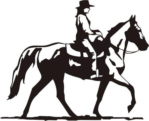 Cowgirl clipart riding horse Cowgirl Western Images free