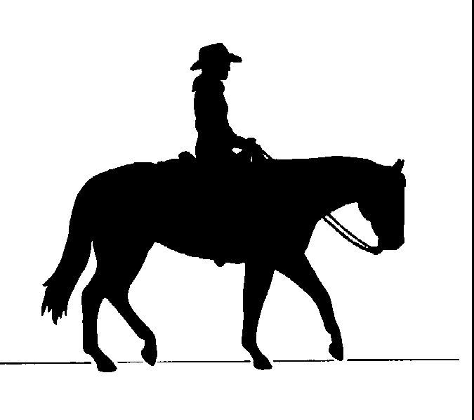 Cowgirl clipart riding horse Silhouettes Art Collection Clip Western