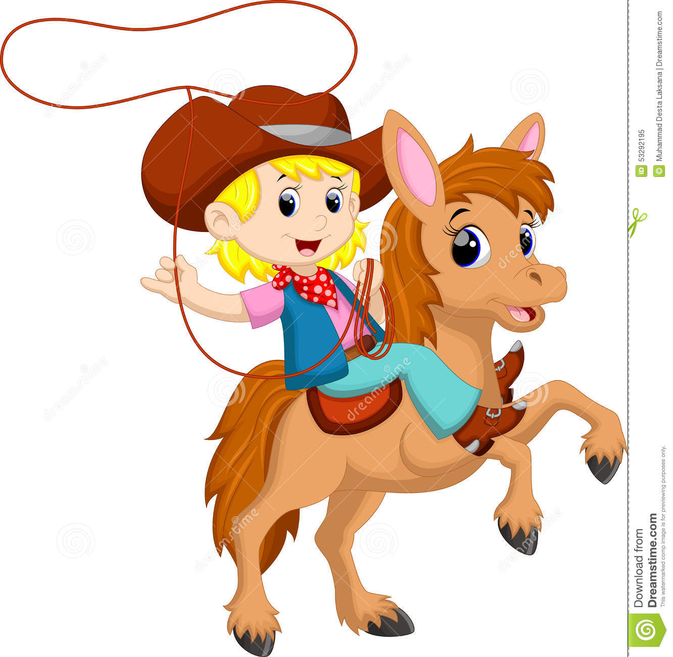 Cowgirl clipart roundup Clipart On Lasso Cowgirl Horse