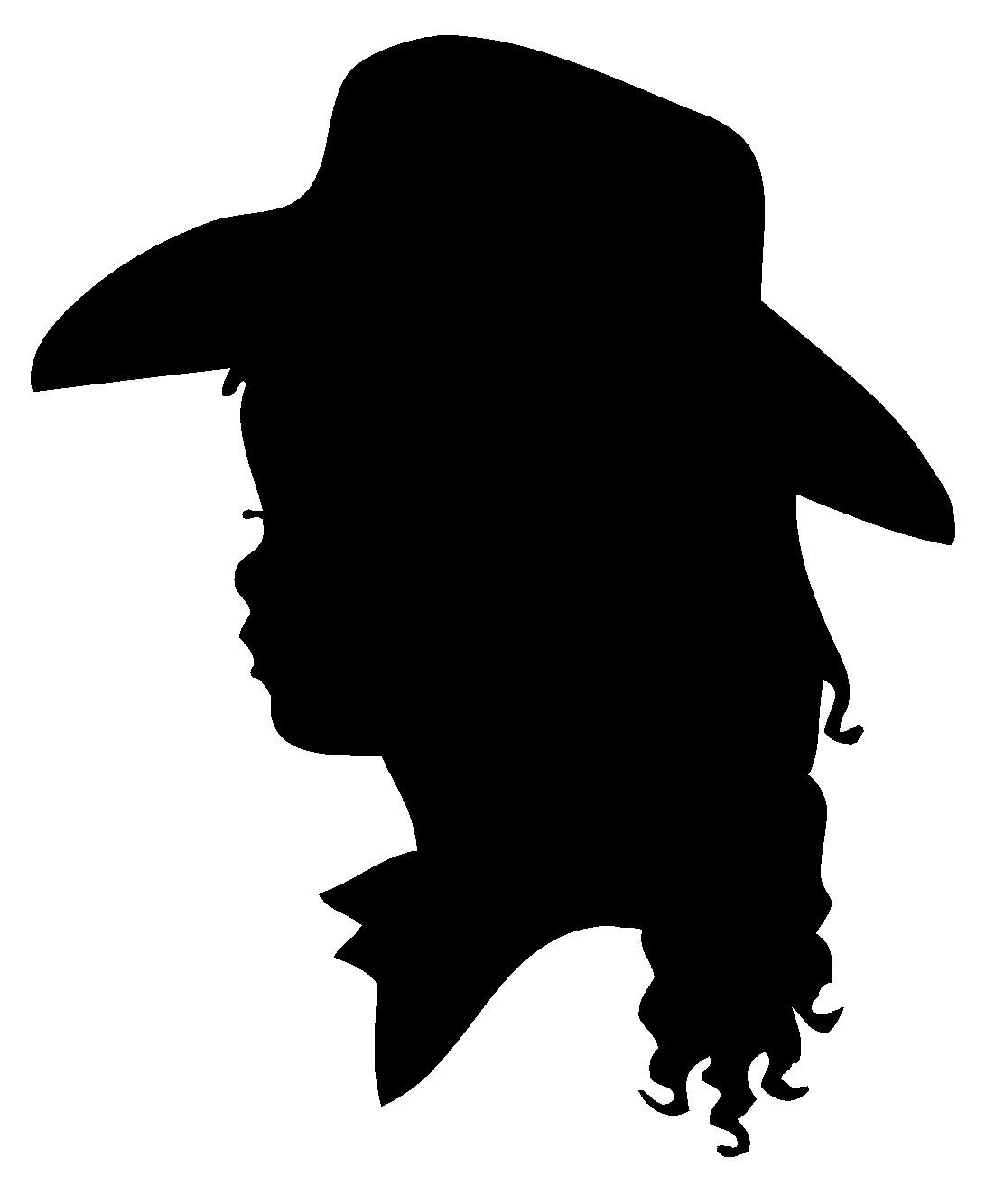 Cowgirl clipart silhouette Cowboy by ahintofchicboutique  ahintofchicboutique