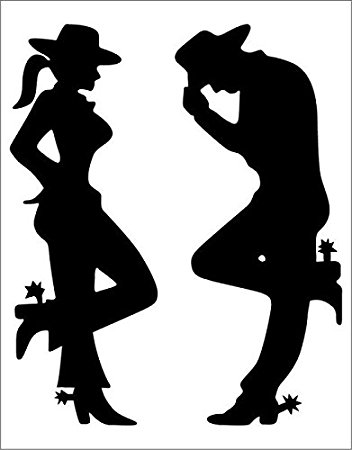 Cowgirl clipart silhouette Amazon Silhouette x Decal 5
