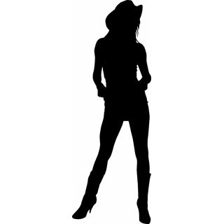 Cowgirl clipart silhouette Digital Silhouette Images Clipart cowgirl