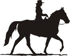 Cowgirl clipart silhouette Cowgirl Silhouette a with cowgirl