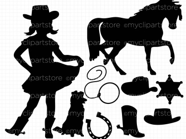 Cowgirl clipart silhouette Cowgirl Meylah Clipart Cowgirl Silhouettes