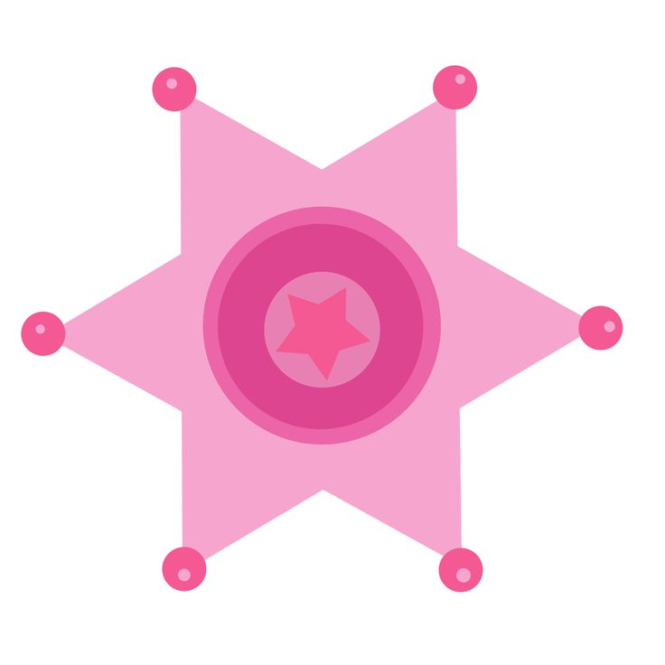 Cowgirl clipart star Badge images Pink best star