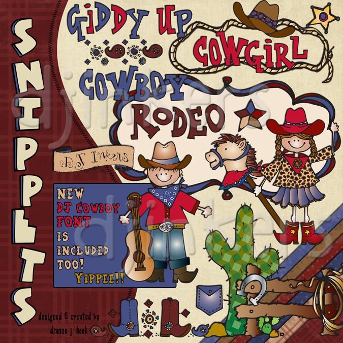 Cowgirl clipart texas cowboy Cowboy DJ art clip collection