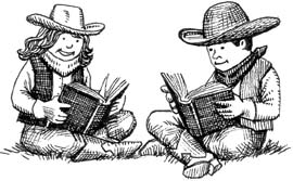 Cowgirl clipart texas cowboy  Reading and Clip reading