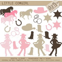 Cowgirl clipart toddler To Cowgirl stamps vector clipart