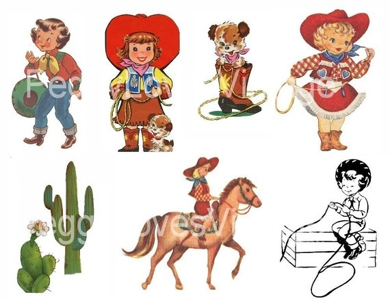 Cowgirl clipart vintage cowgirl (57+) little Clip vintage Retro