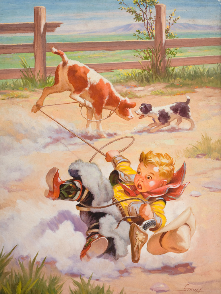 Cowgirl clipart vintage cowgirl Vintage Art Boy Print a