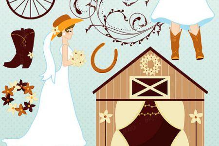 Cowgirl clipart wedding Cowgirl Clipart Cowboy Bride UK