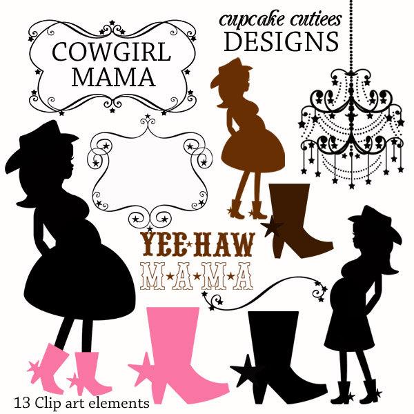 Cowgirl clipart wedding (35+) pregnant art clip Cowgirl