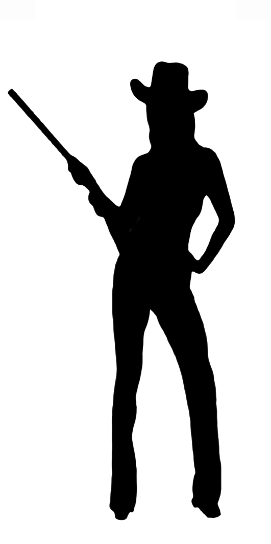 Woman clipart cowboy  Female Silhouette