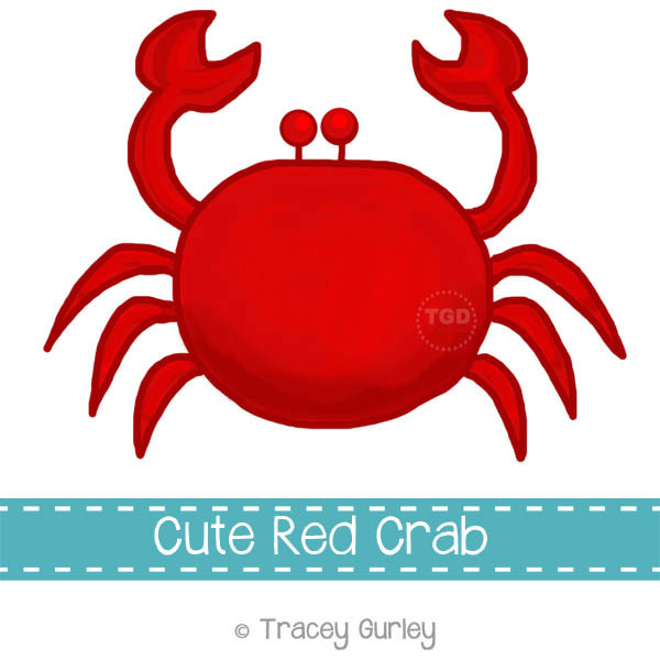Sea Life clipart red crab #15
