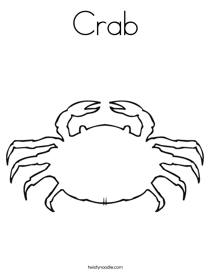 Crustacean clipart outline Art clip photo#19 Crab Outline