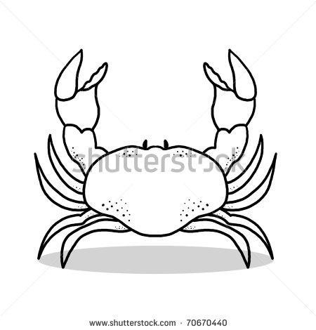 Crustacean clipart outline Outline Crab Images Crab Clipart