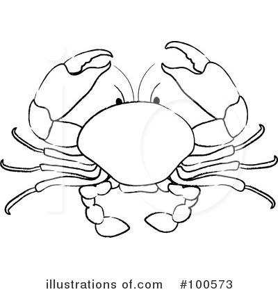 Crustacean clipart outline Clipart Crab (RF) Crab Clipart