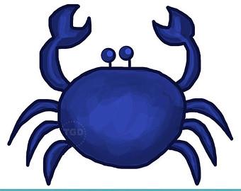 Seahorse clipart navy blue #4