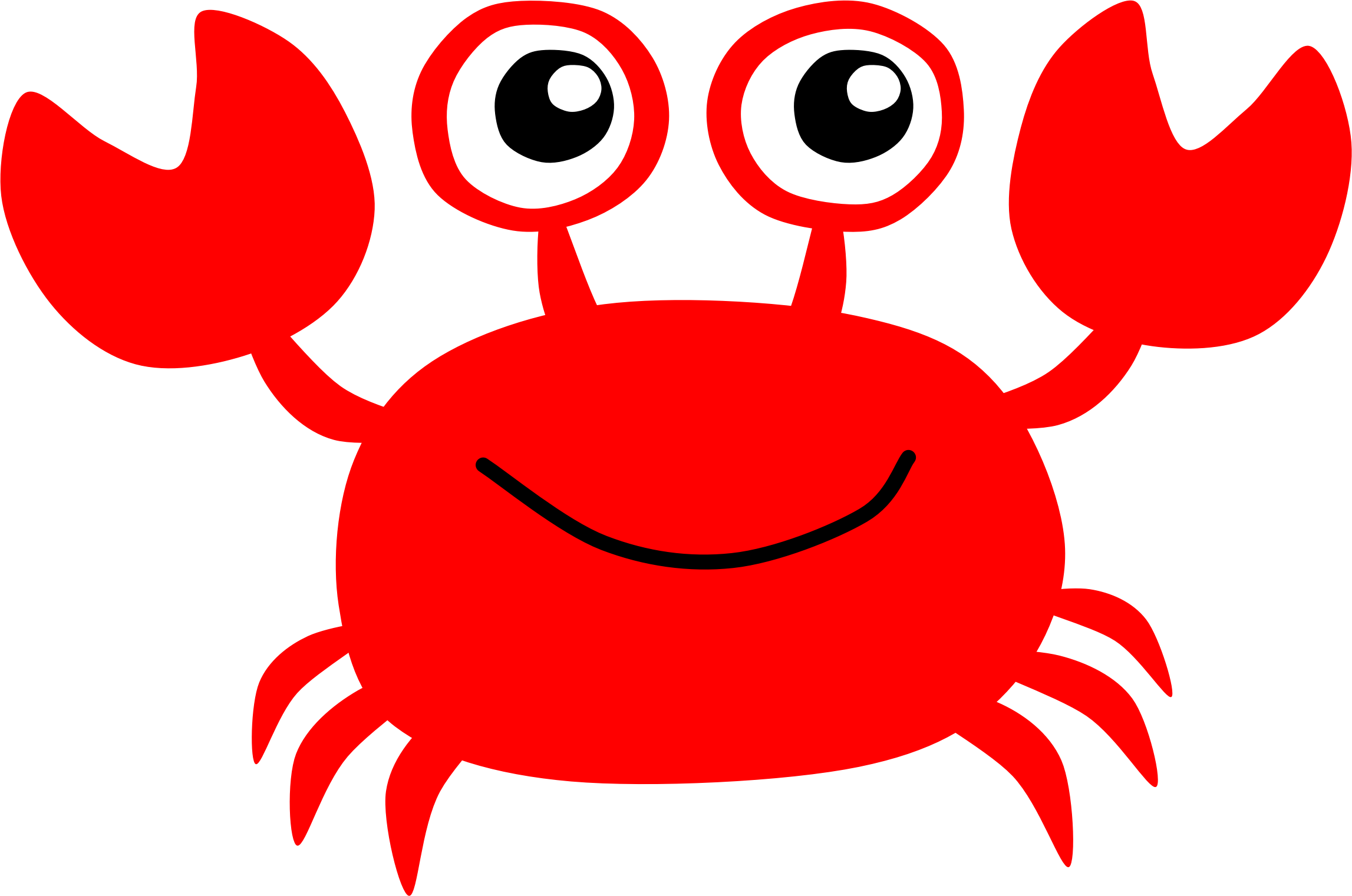 Crustacean clipart outline Red Clipart Crab Red Crab