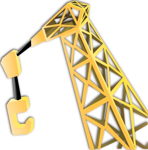 Crane clipart Equipment clip clip Crane art