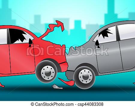 Crash clipart 3d car Car 3d Car Crash Illustration