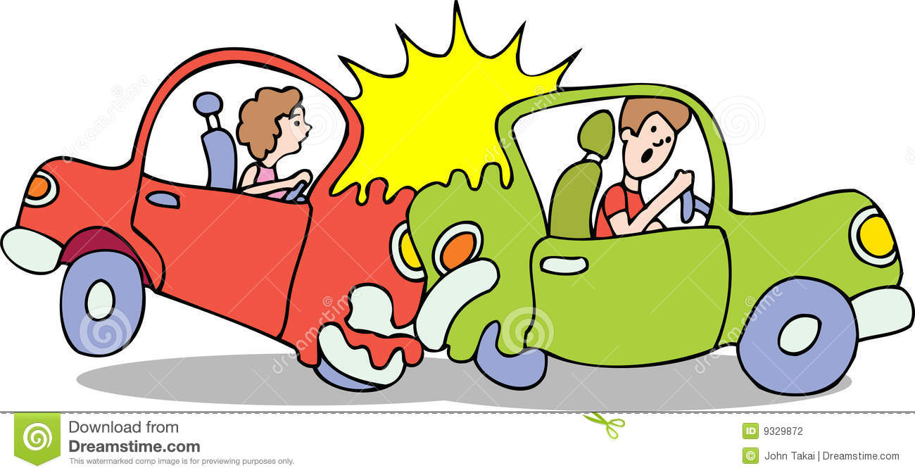 Crash clipart rear end collision Background Bad crash No car