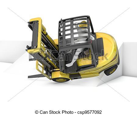 Crash clipart forklift Slope lift Illustration turning falling