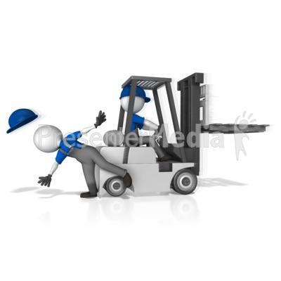 Crash clipart forklift Worker 14742 Clipart and Presentation