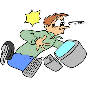 Crash clipart workplace accident Work Office Free Art Clip