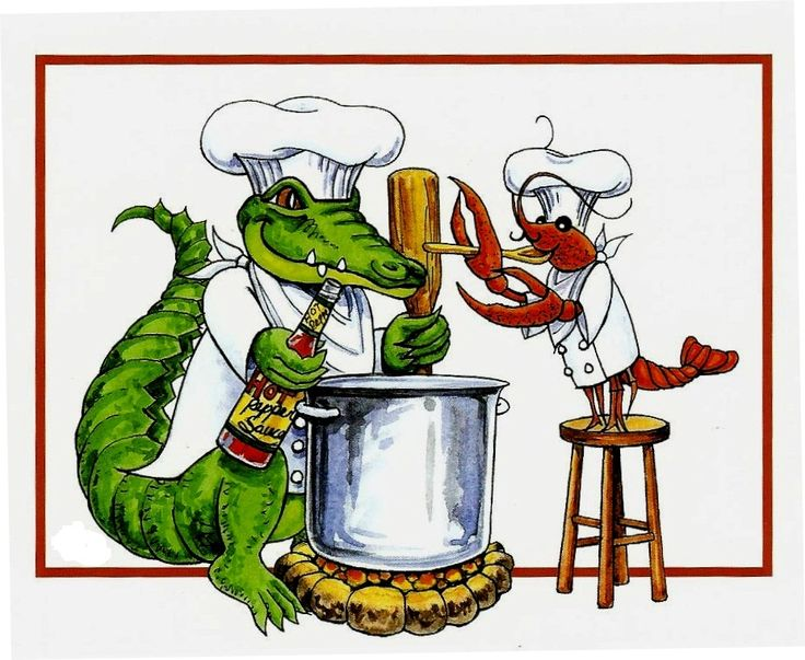 Alligator clipart cajun food Pinterest 107 w Art Cajun