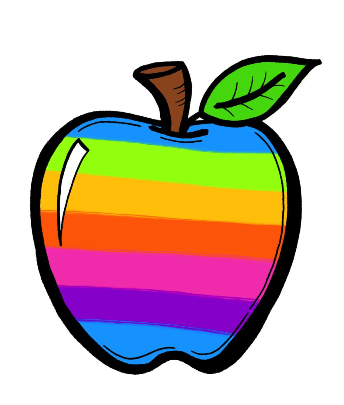 Crayon clipart apple Rainbow Clipart Clipart Rainbow Creative