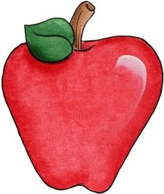Crayon clipart apple Big Art Laminas printables para