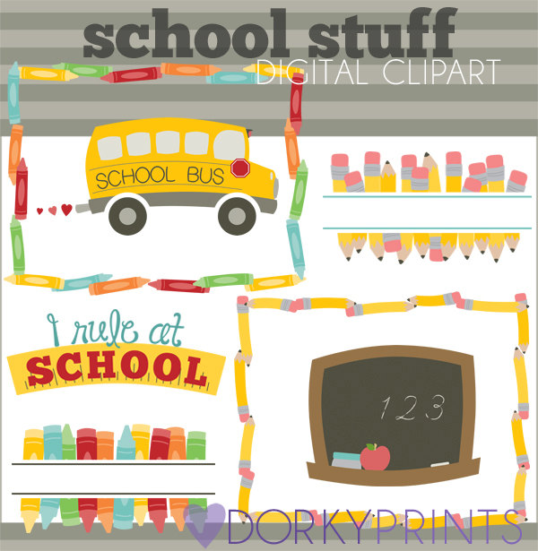 Crayon clipart art supply Clip art to Clipart Etsy