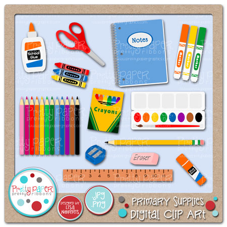 Crayon clipart art supply Primary Art Pretty Pretty Digital