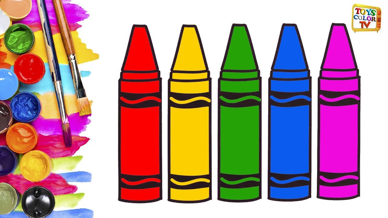 Crayon clipart childern Pages for Art Kids for