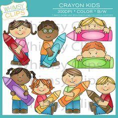 Crayon clipart childern Book clip free art My