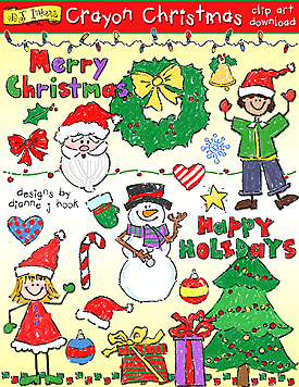 Crayon clipart christmas Inkers Christmas Inkers DJ by