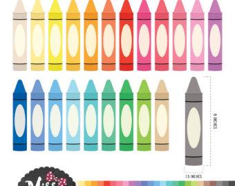 Crayon clipart color crayon Instant Clipart Crayon Crayon Etsy