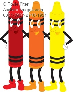 Crayon clipart color orange Illustration Clip download Art collection