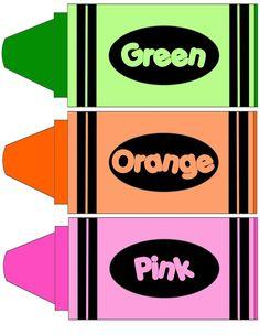Crayon clipart color orange Color lacing color cards crayons