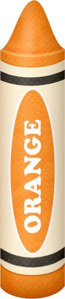 Crayon clipart color orange ART CRAYON ORANGE CLIP Pinterest